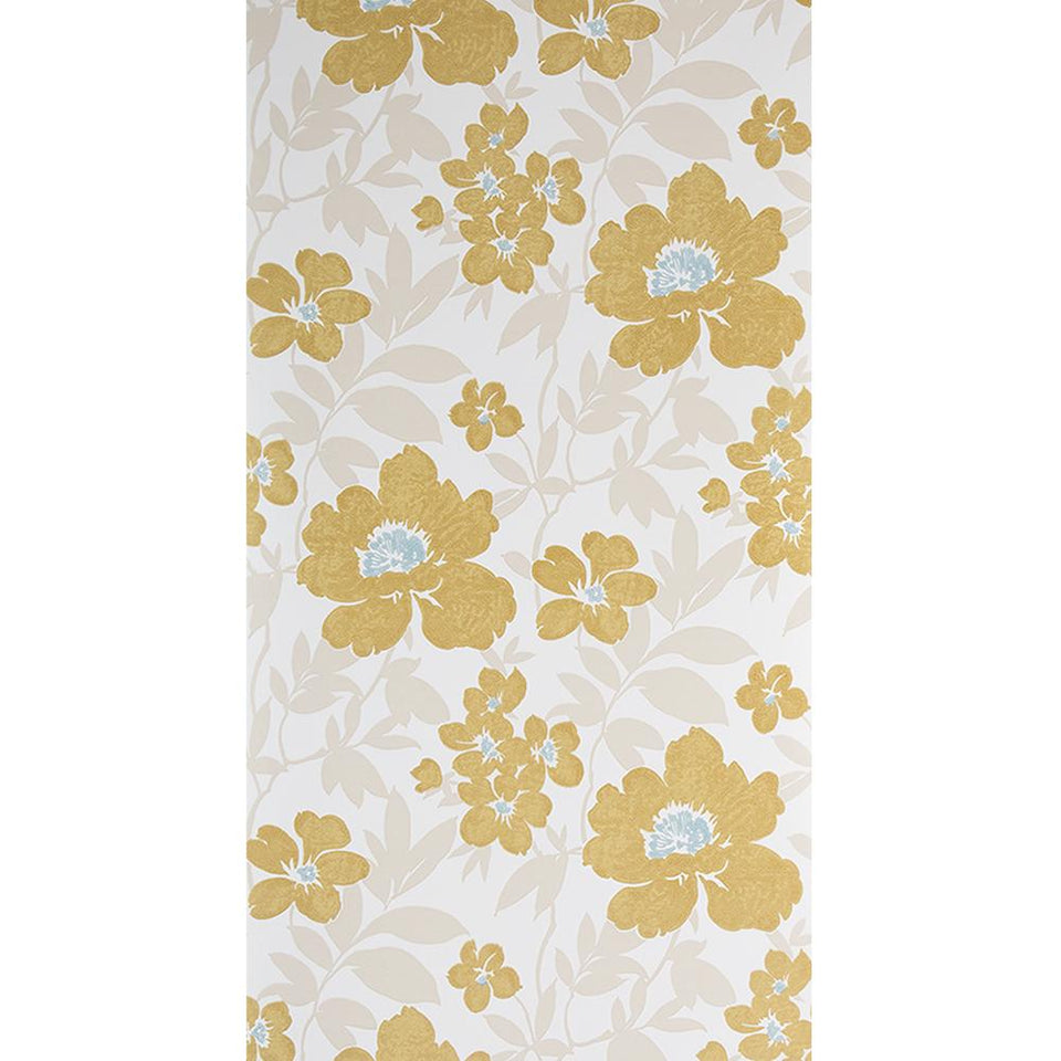 SAMPLE - Blendworth Paper Trail Wallpaper Roll - Bayswater Floral BL-0901 White