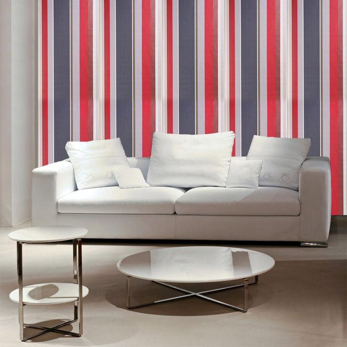 Dulux Feature Wallpaper Roll - Easy Hang -Striped Oslo- Cherry -31-236 - SAMPLE