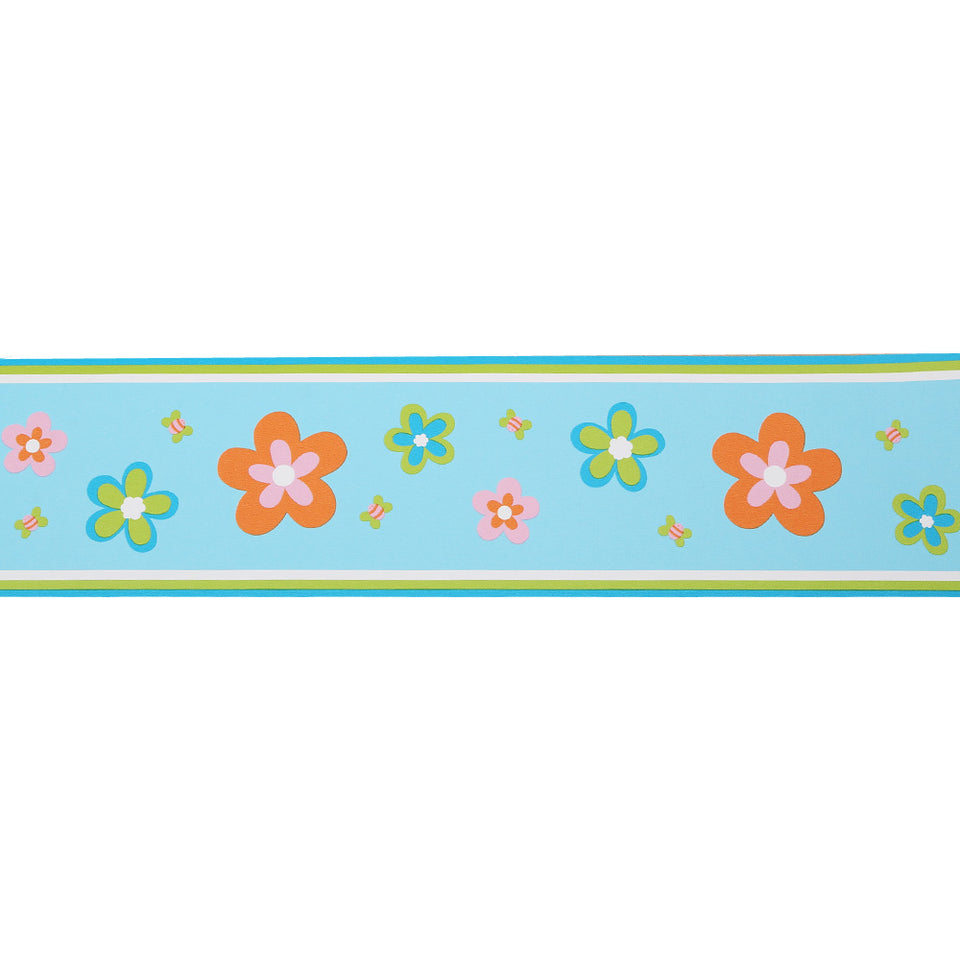 Wallpaper - Designer Esta Daisy Blue Wallpaper