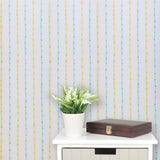 Designers Guild Wallpaper Paw Print Stripe Striped White/Green/Yellow