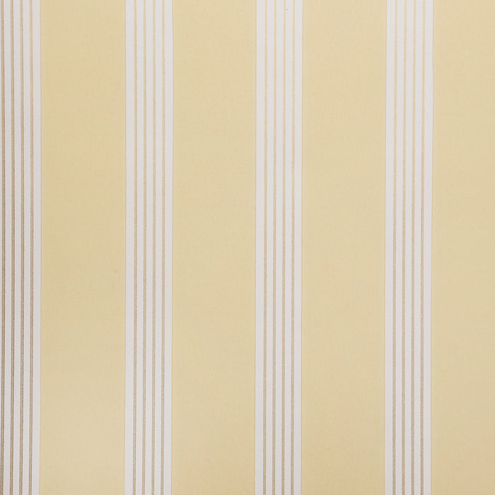 Designers Guild Wallpaper - Flat Striped - Yellow - Ambra - P413-05 - SAMPLE