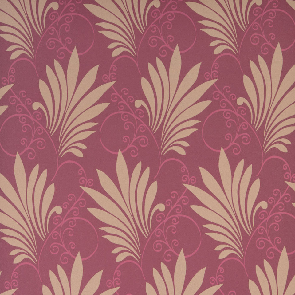 Wilman Interiors Luxury Floral Wallpaper - Deco - Berry - DC061