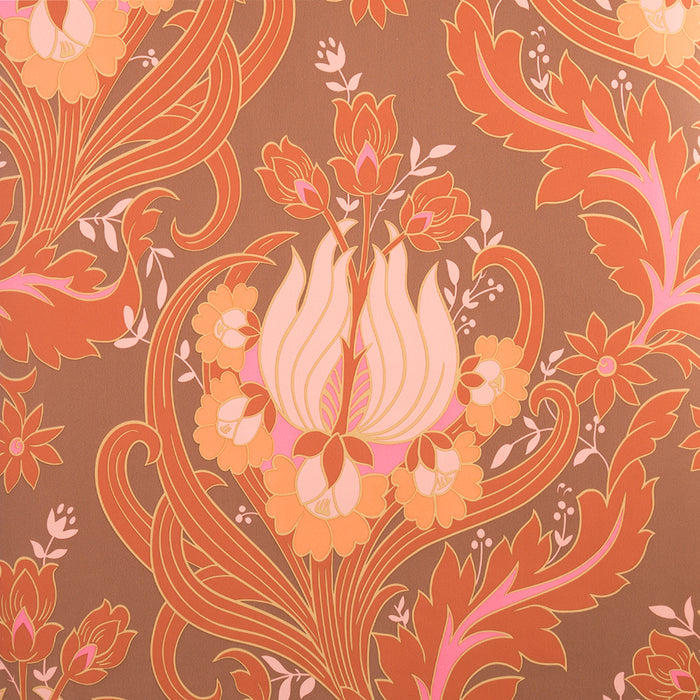 Wallpaper - Amy Butler Wallpaper Tulips Sunset Orange