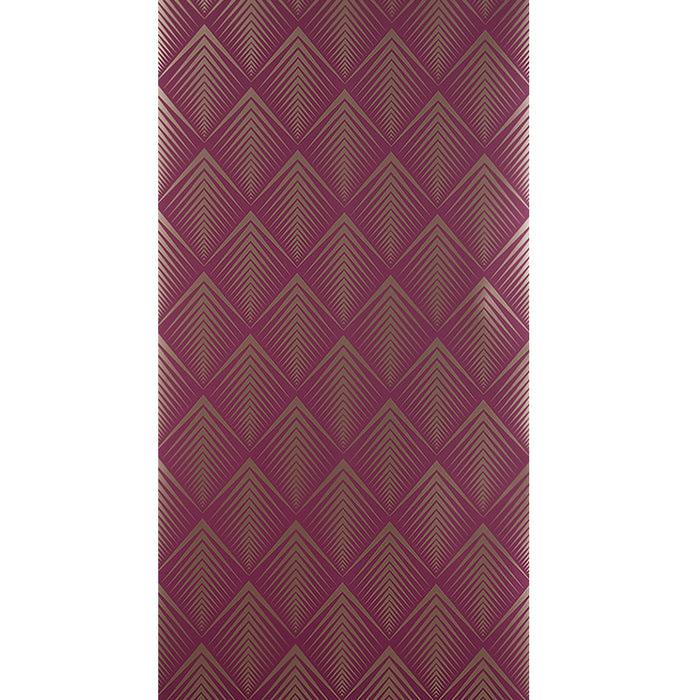 Graham & Brown Patterned Wallpaper Soprano Raspberry Purple