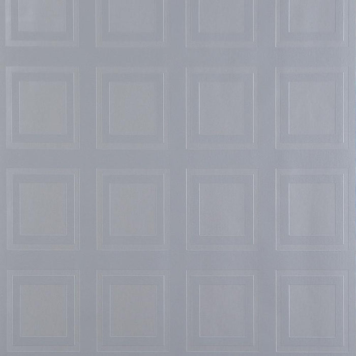 Kelly Hoppen Wallpaper Roll Patterned Vinyl - Cube Silver/Grey 30-635 - SAMPLE