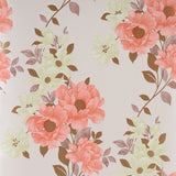 Graham & Brown Wallpaper Roll - Floral - Duchessa Burnt Orange 50-215 - SAMPLE