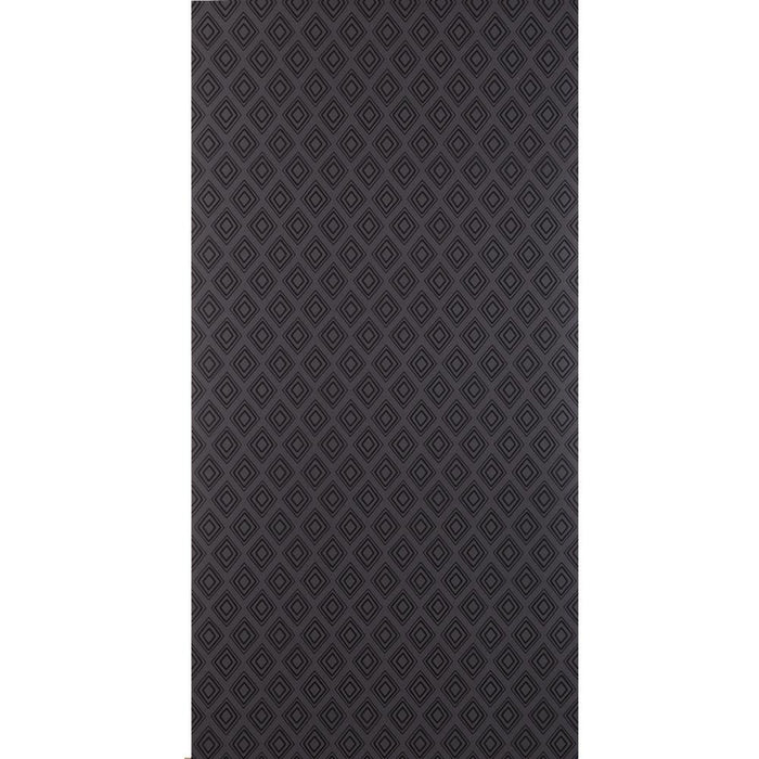 Fresco Wallpaper Diamonds Patterned Charcoal Grey