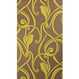 Graham & Brown Vinyl Wallpaper - Brown Yellow Gold - Vine Swirls - 17297 - SAMPLE