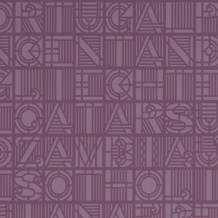Graham & Brown Patterned Purple Wallpaper