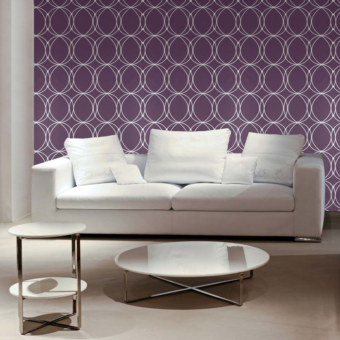 Graham & Brown Wallpaper Darcy Amethyst / Gold