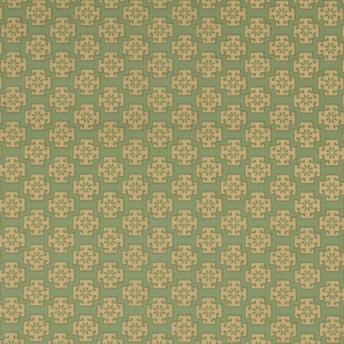 Regents Park Wallpaper - Chatsworth Collection - Green & Gold RPW15026