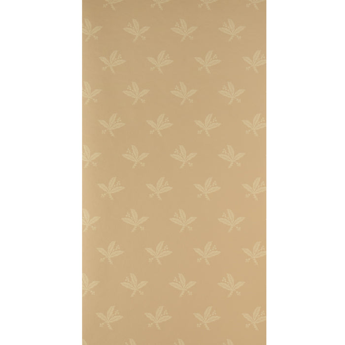 Warner Fabrics Wallpaper Flower Leaf Orange - Spongeable - WGVP706 - SAMPLE