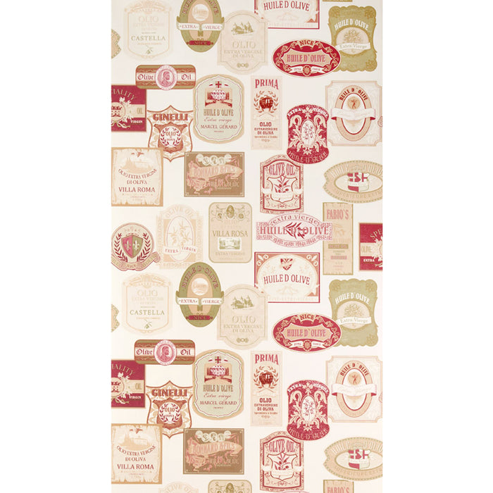 Galerie Patterned Cream & Red Wallpaper