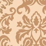 Designer Wallpaper Damask  Cream/Gold