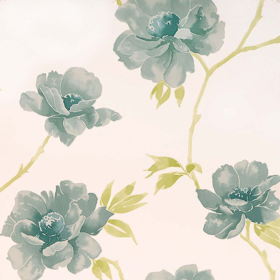 Wallpaper - Designer Wallpaper Virginia Duck Egg