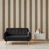 Designer Wallpaper Bead Stripe Brown