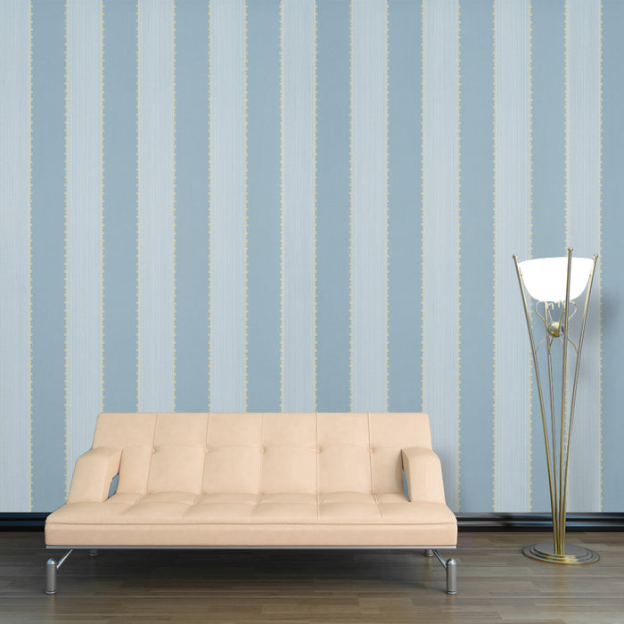 Designer Wallpaper Bead Stripe Blue