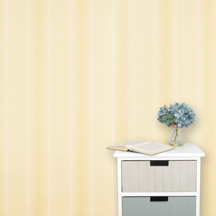 Harlequin Wallpaper Striped Beige & Yellow