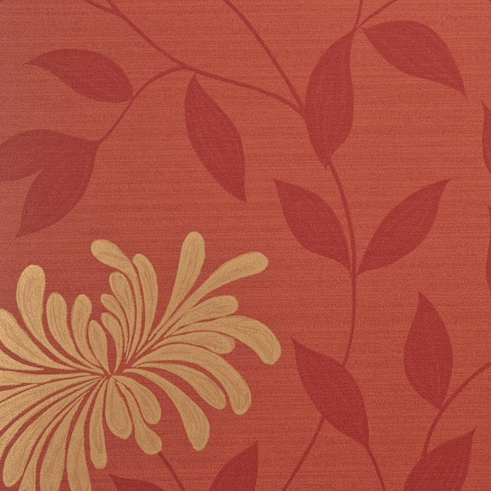 Harlequin Wallpaper Roll - Floral - Decadence Adore Red / Gold - 30727 - SAMPLE
