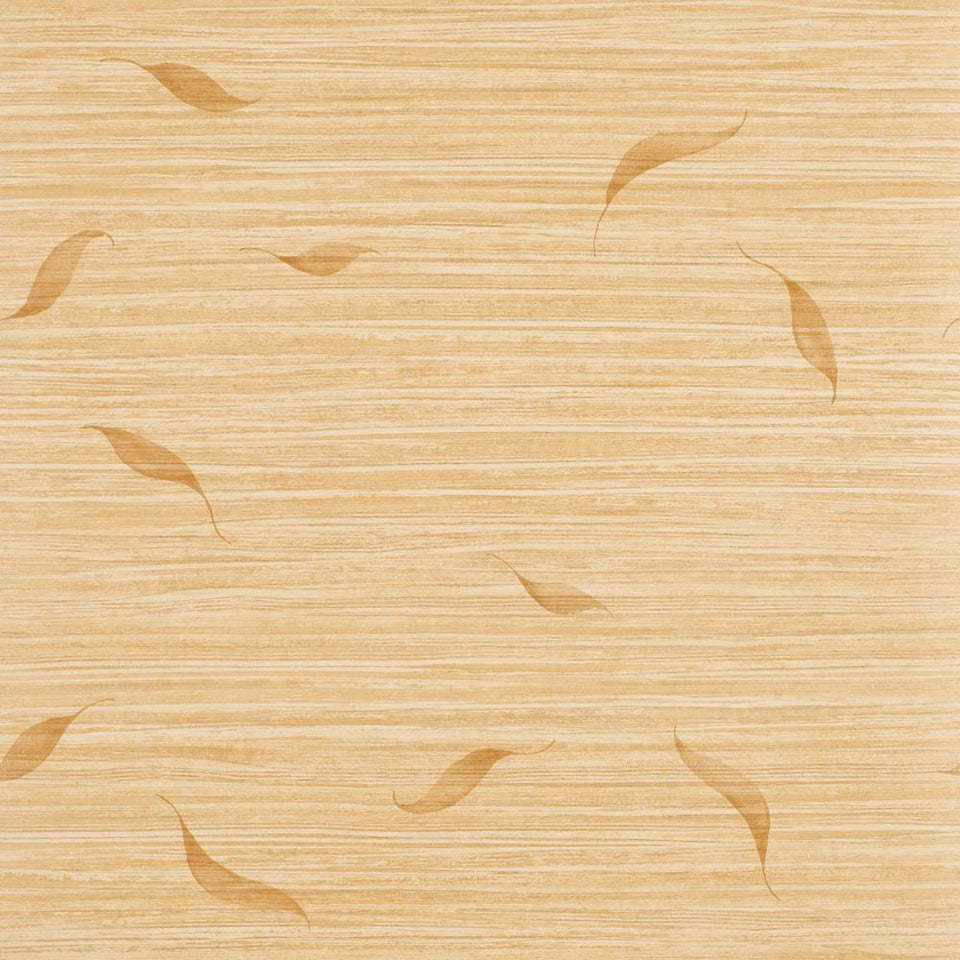 Wallpaper Roll - Textured - Coast Feather Leaf Yellow Brown - 35531 - SAMPLE