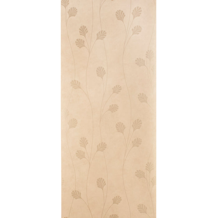 Harlequin Wallpaper Roll - Floral Vinyl - Makeda Nia Cream/Gold -75416 - SAMPLE