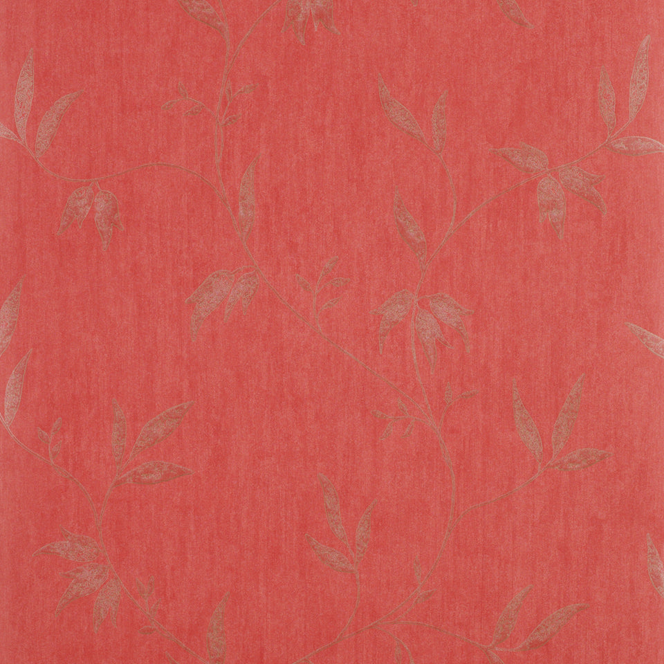 Harlequin Decor Wallpaper Roll - Floral Flat - Palladia Red - 75565 - SAMPLE