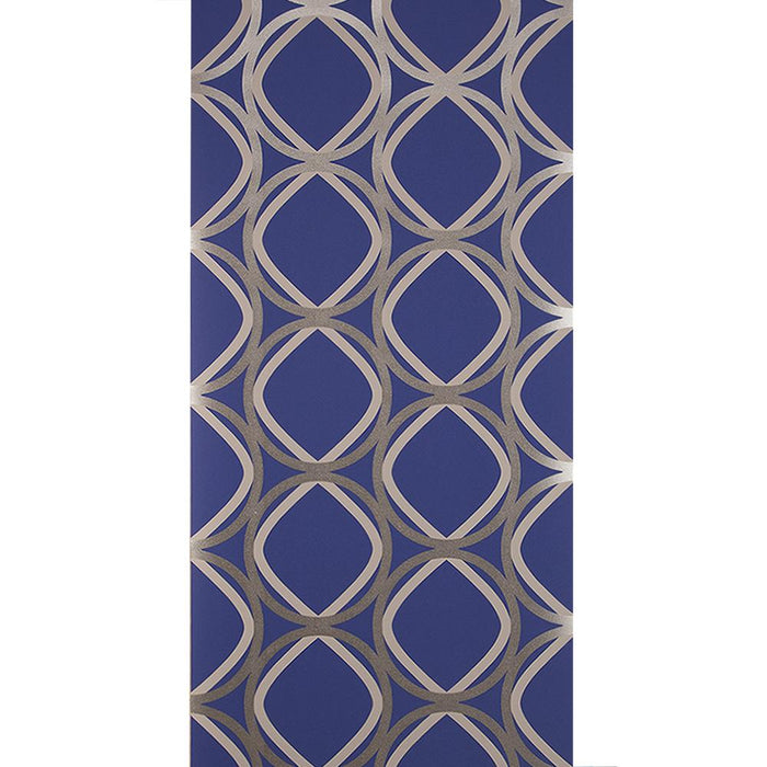 Wilman Interiors Wallpaper - Flat Corinthia Azure - Purple - FK003 - SAMPLE