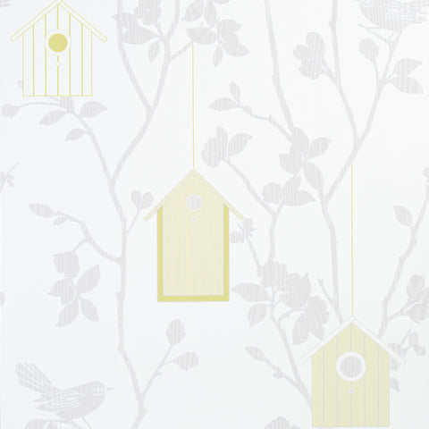 Graham & Brown Wallpaper Hut In The Branches White