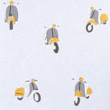 Graham & Brown Flat Patterned Wallpaper - Scooter - 50-837