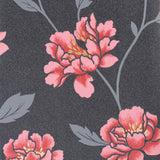 Wallpaper - Superfresco Wallpaper Floral Black / Red