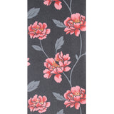 Superfresco Wallpaper Floral Black / Red