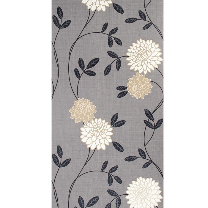 Graham & Brown Wallpaper Patterned Grey / Black