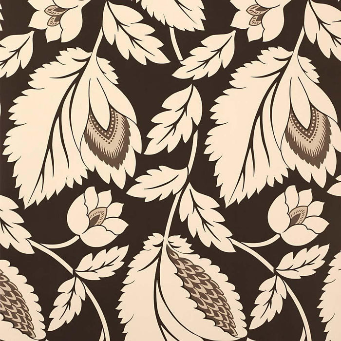 Wallpaper - Sanderson Wallpaper Aerial Brown & Cream