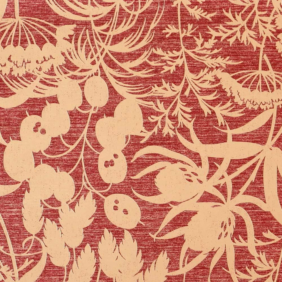 Harlequin Patterned Feature Wallpaper - Red - Amaranta Foresta - 60518 - SAMPLE