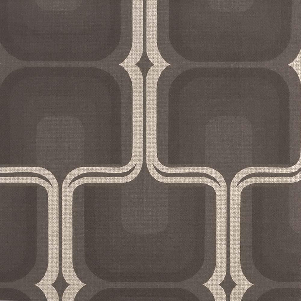 Harlequin Wallpaper - Patterned Vinyl - Black & Silver Kika - 60818 - SAMPLE