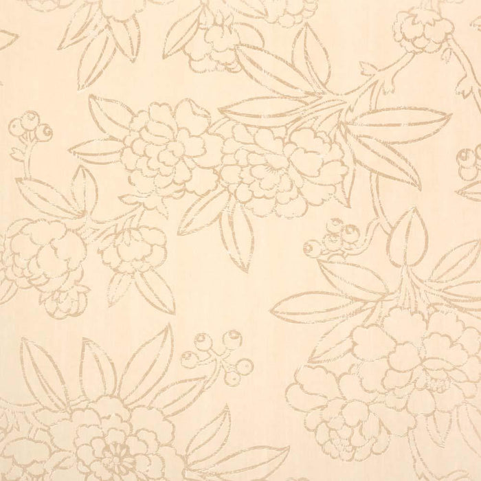 Harlequin Floral Wallpaper - Cream/Bronze - Adonica - 75681 - SAMPLE