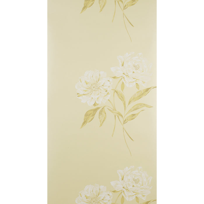 Designer Wallpaper Floral Ophelia Ivory & White