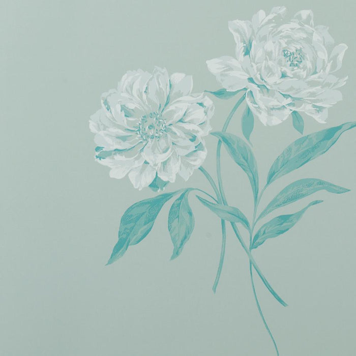 Designer Wallpaper Roll - Floral Flat - Ophelia - Teal - ED228 - SAMPLE