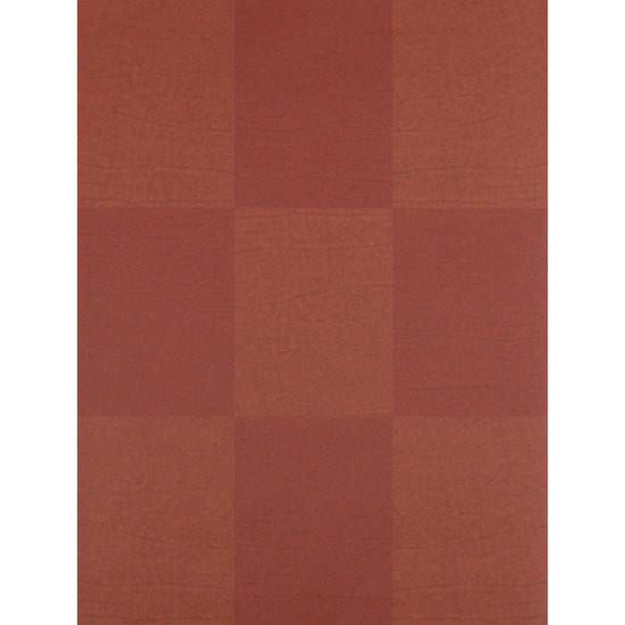 Zoffany Designer Saddle Check Red Wallpaper