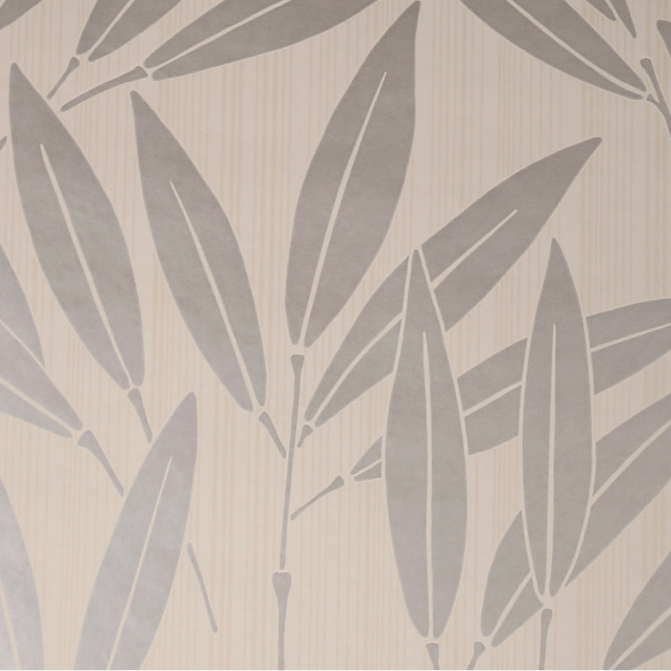 Sanderson Luxury Wallpaper Roll - Bamboo - Cream/Silver - DAIDBA101 - SAMPLE