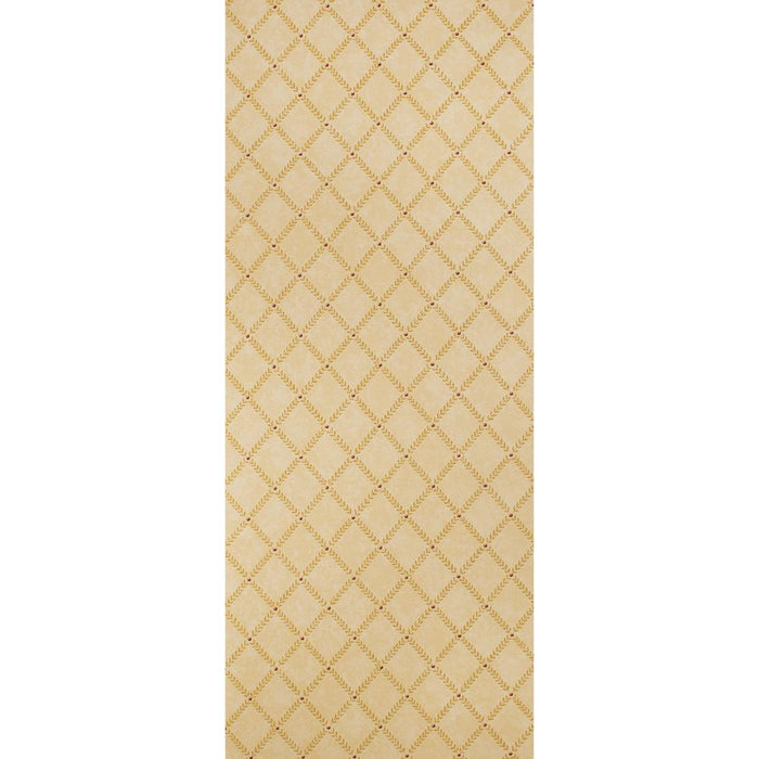 Zoffany Patterned Vinyl Wallpaper - Trellis - Beige - V21505 - SAMPLE