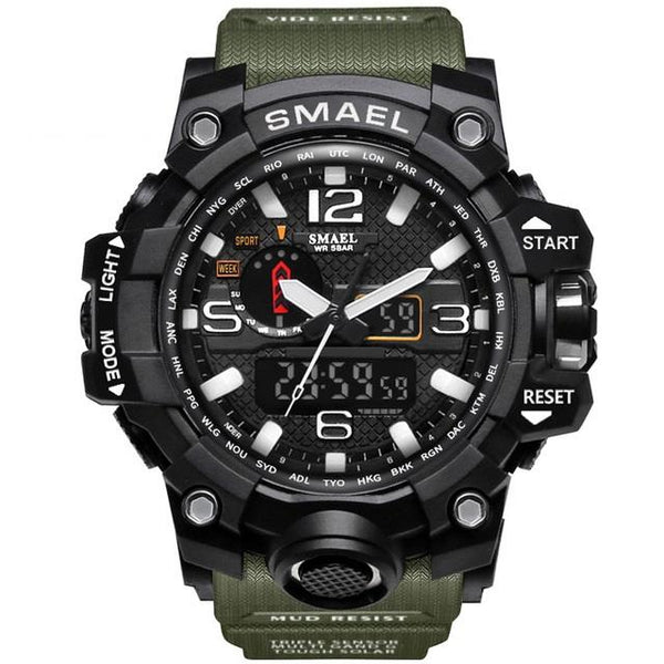 Top Quality Mens Waterproof - Military Grade Sports Multi-function Watch