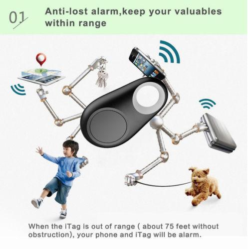 eSmart Tag Wireless Bluetooth 4.0 GPS Tracker - Locator - Finder Sync To iPhone or Android