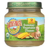 Earth's Best Organic Summer Vegetable Dinner Baby Food - Stage 2 - Case Of 12 - 4 Oz.