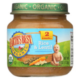 Earth's Best Organic Rice And Lentil Dinner Baby Food - Stage 2 - Case Of 12 - 4 Oz.