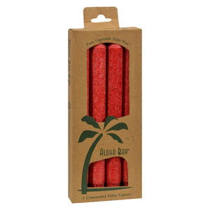 Aloha Bay - Palm Tapers - Red - 4 Candles