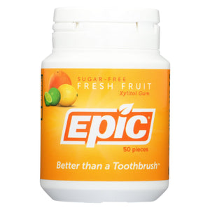 Epic Dental - Xylitol Gum - Fresh Fruit - 50 Pieces