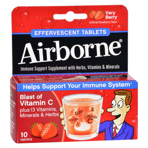 Airborne - Effervescent Tablets With Vitamin C - Very Berry - 10 Tablets