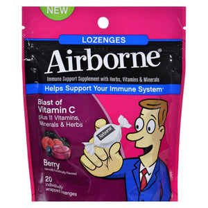 Airborne - Lozenges With Vitamin C - Berry - 20 Count