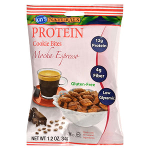 Kays Naturals Cookie Bites - Mocha Espresso - Gluten Free - 1.2 Oz - Case Of 6